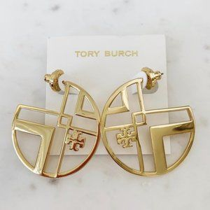 tory burch gold hoop earrings
